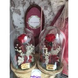 Cúpula rosas preservadas CARLA
