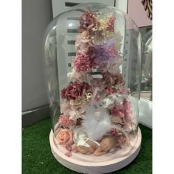 cupula letra floral BEBE