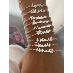 "pulsera nombre ""personalizada"""